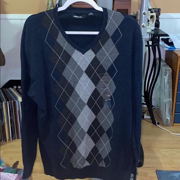 Never Worn Navy Argyle Sweater